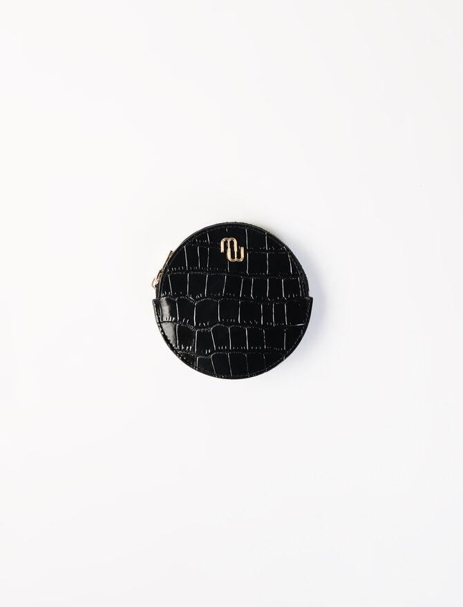 Portemonnaie-Gürtel aus geprägtem Leder - Kleine Lederwaren - MAJE
