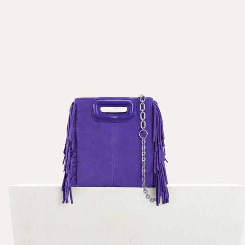 Mini-M-Tasche aus Wildleder mit Kette : null farbe Violett