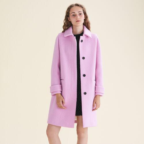 Gerade geschnittener Mantel : Manteaux farbe Rosa