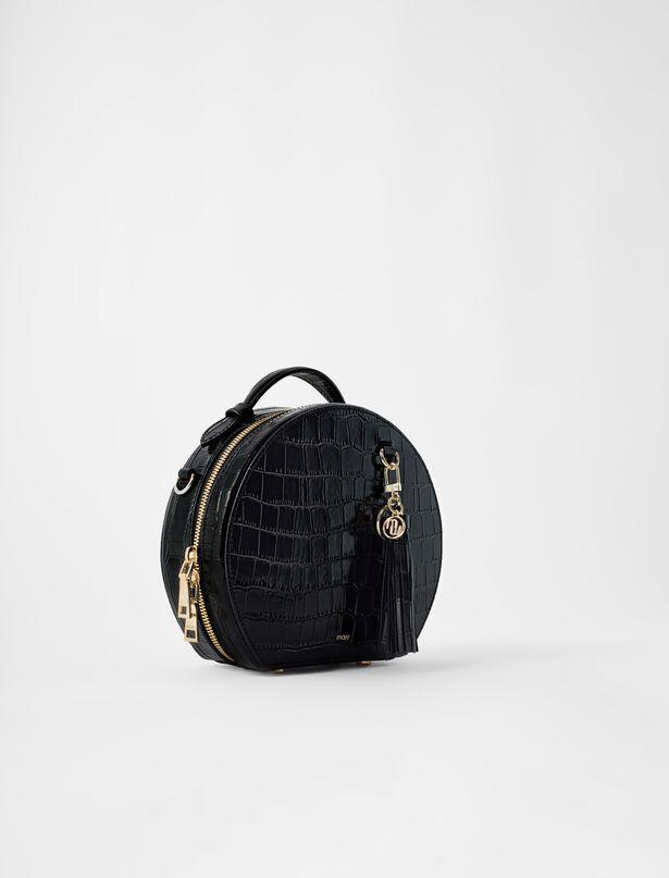마쥬 크로스바디백 MAJE 120boxbagcroco Hutschachtel-Tasche aus gepragtem Leder
