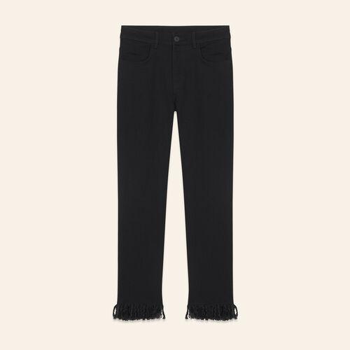 Jeans mit geradem Schnitt und Fransen - Jeans - MAJE
