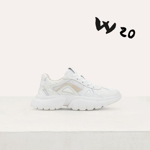 W20 Ledersneaker : Sneakers farbe Weiss