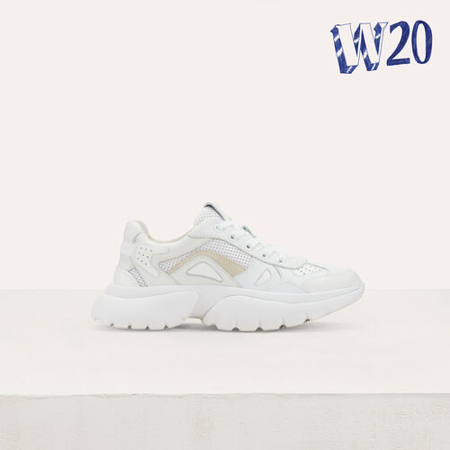 W20 Urban Ledersneakers : Urban farbe Weiss