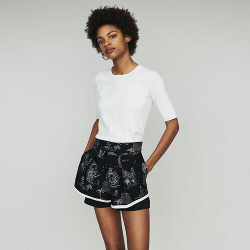 Shorts aus bestickten Krepp : New in : Sommer Kollektion farbe Schwarz