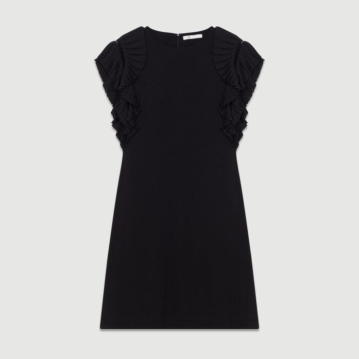 Unstrukturiertes Hemd-Kleid : Majexclusive farbe Schwarz