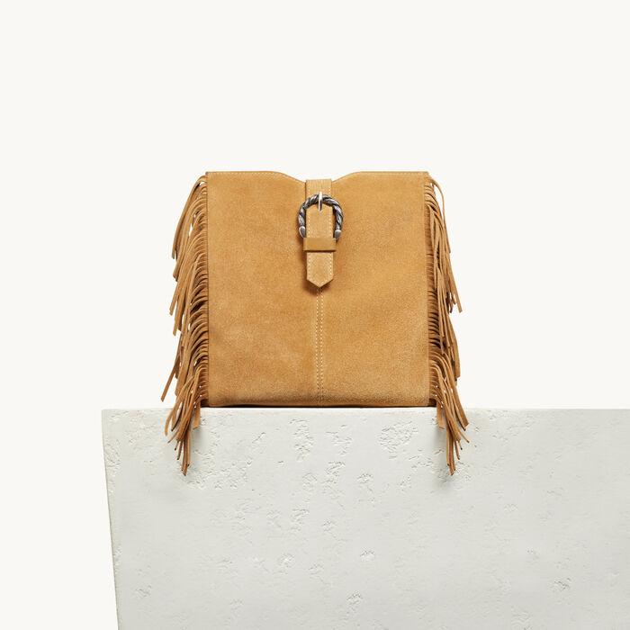 M Tasche mit Feston-Schließe - GELB - MAJE