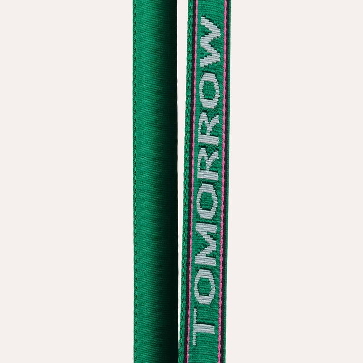 Abnehmbarer Schulterriemen mit Inschrift : Trageriemen farbe Grün