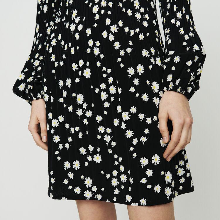 Plissee-Kleid mit Margeriten-Print : Kleider farbe IMPRIME