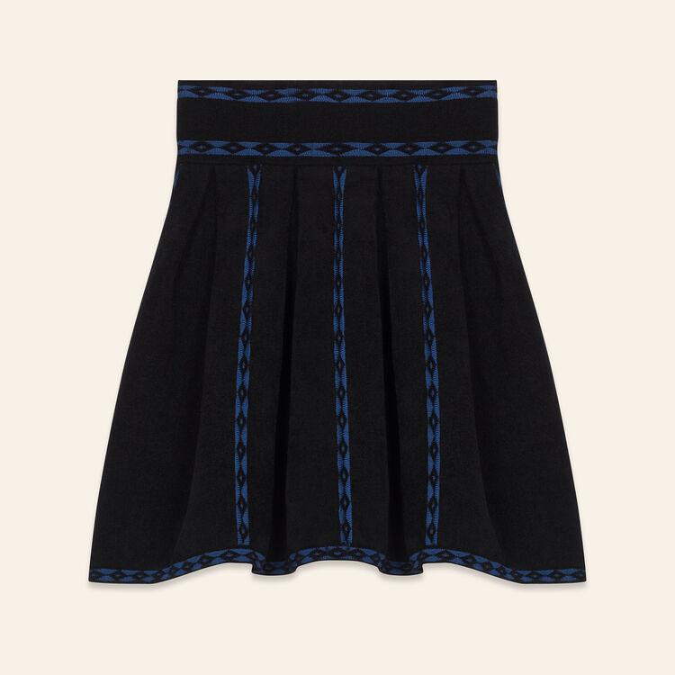 Falda de punto de jacquard : Jupes & Shorts farbe Schwarz