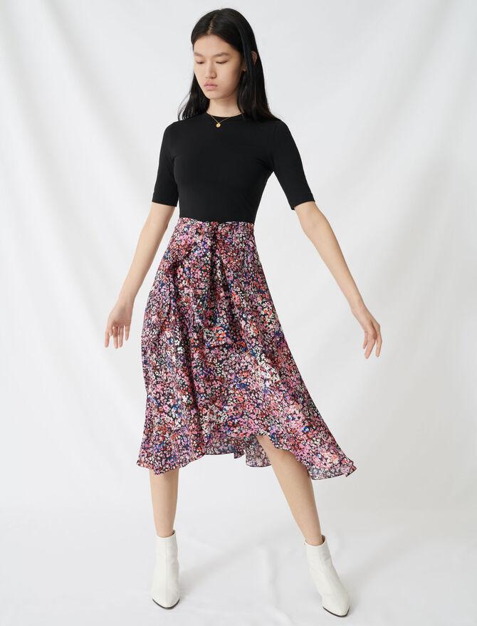 Bedrucktes Trompe-l'œil-Kleid - Kleider - MAJE
