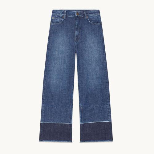 Weite Jeans mit Fransen - null - MAJE