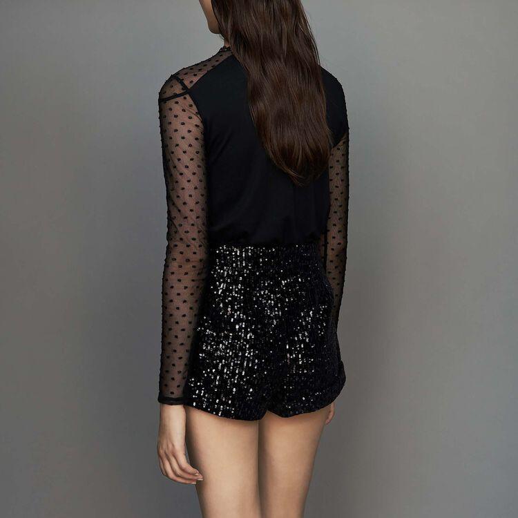Pailletten-Short : Röcke & Shorts farbe Schwarz