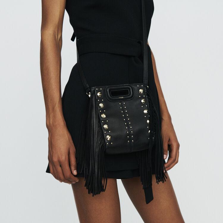 M Mini Tasche aus Leder mit Studs : M Mini farbe SCHWARZ