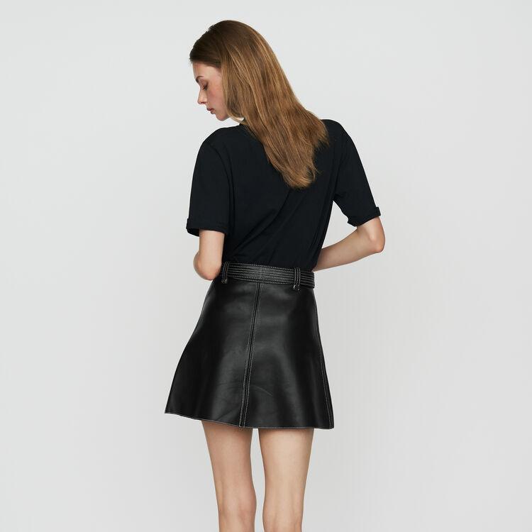 Ausgestellter Lederrock : Röcke & Shorts farbe Schwarz