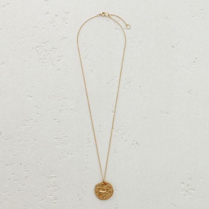 Collier Sternzeichen Schütze : Medaillons farbe OR
