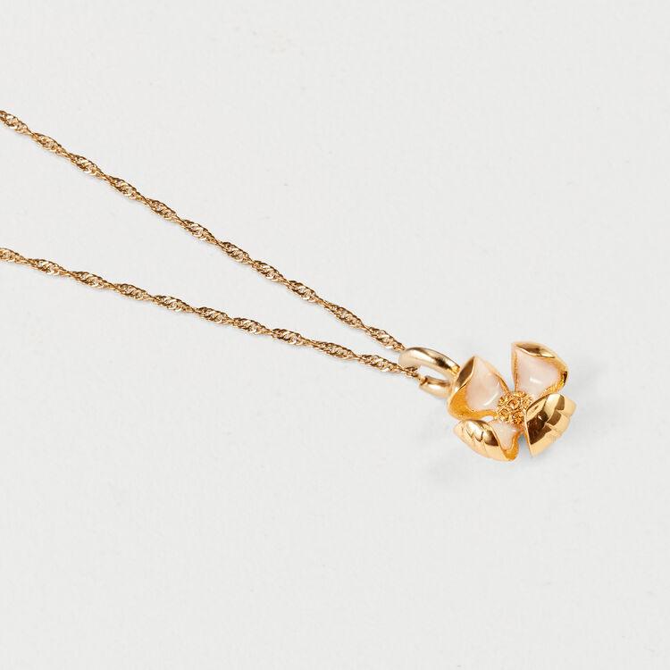 Collier mit kleiner Blume : Schmuck farbe OR