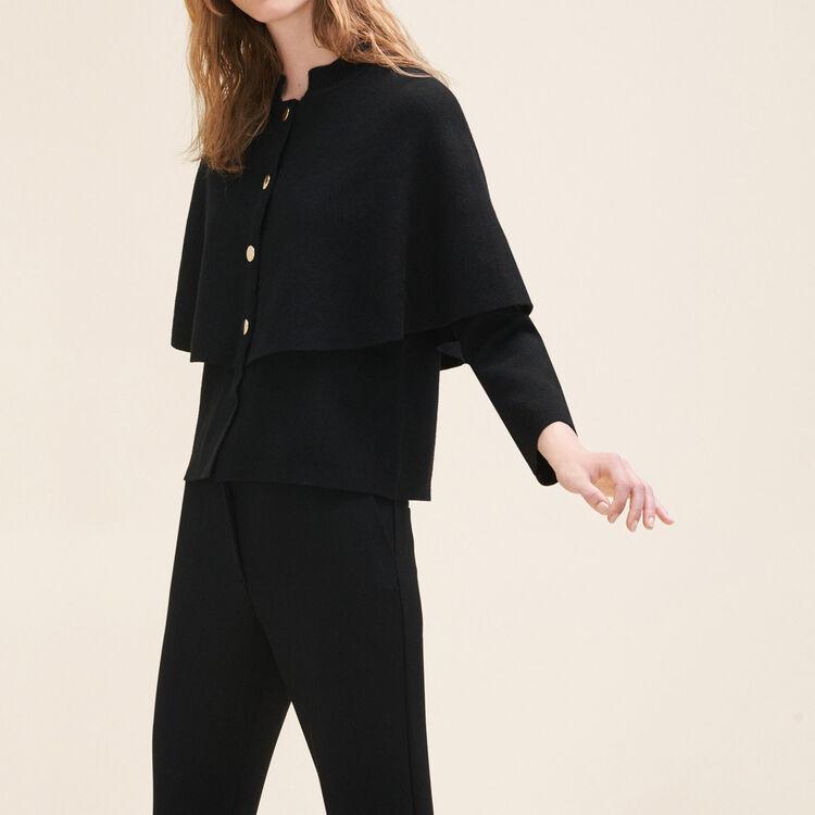 Cárdigan corto tipo capa : Pulls & Cardigans farbe Schwarz