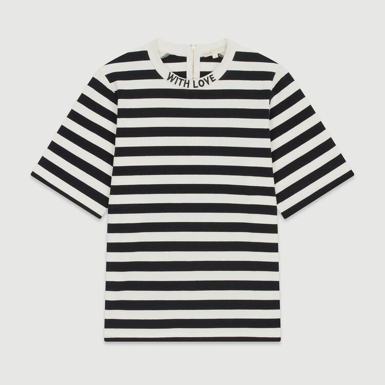 Bicolor striped T-shirt : T-Shirts farbe Gestreift