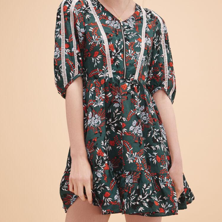 Rüschenkleid mit Print - Sommer Kollektion - MAJE