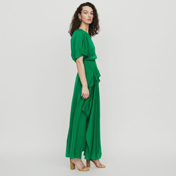Langes Asymmetrisches Kleid : Kleider farbe Grün