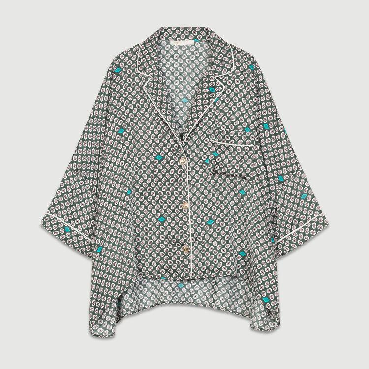 Bedrucktes Satinhemd : Hemden farbe IMPRIME