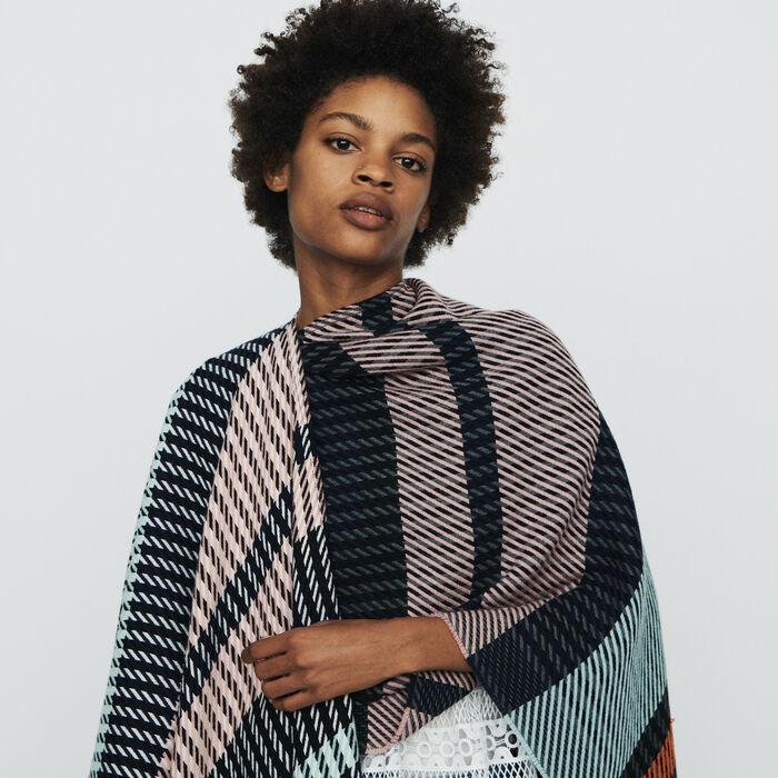 Poncho mit Streifen : Schals & Ponchos farbe Mehrfarbigen