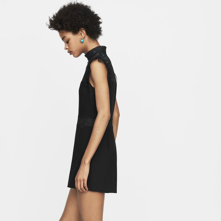 Playsuit mit Spitze : Alles einsehen farbe Schwarz