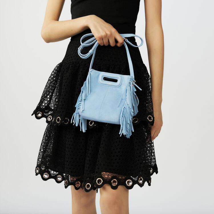 M mini Tasche aus Veloursleder : M Mini farbe Himmelblau
