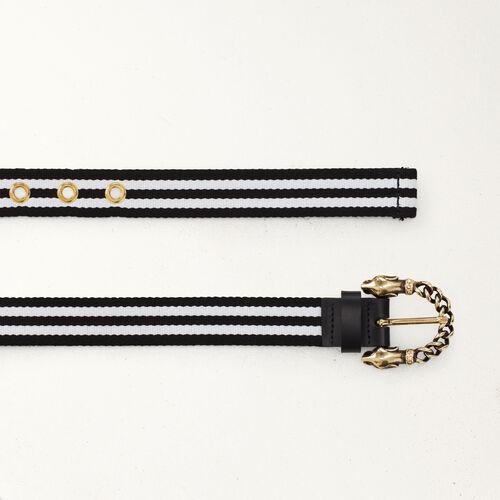 Textile belt : Gürtel farbe Zweifarbig