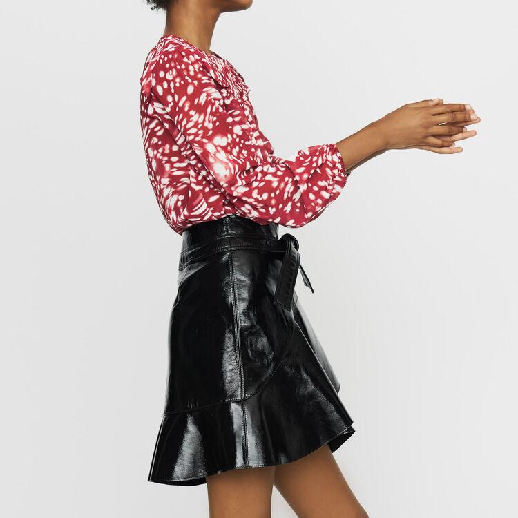 Bedruckte Bluse mit Volants : Tops farbe IMPRIME