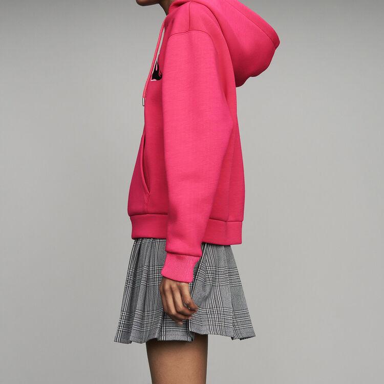 Oversize-Kapuzen-Sweatshirt : Urban farbe Fuchsiafarben