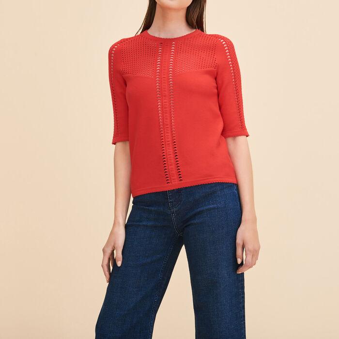 Pullover aus maschenfestem Ajour-Strick -  - MAJE