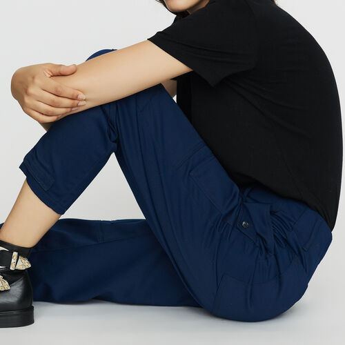 Breite Hose im Arbeiter-Look : Hosen farbe Blau