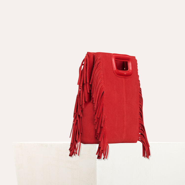 Suede M bag : M Tasche farbe Rot