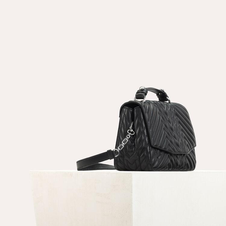 Mini Aktentasche aus gestepptem Leder : LDance Taschen farbe Schwarz