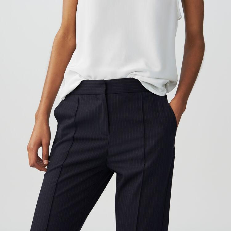 Weite Hose mit Tennisstreifen : Hosen farbe Gestreift