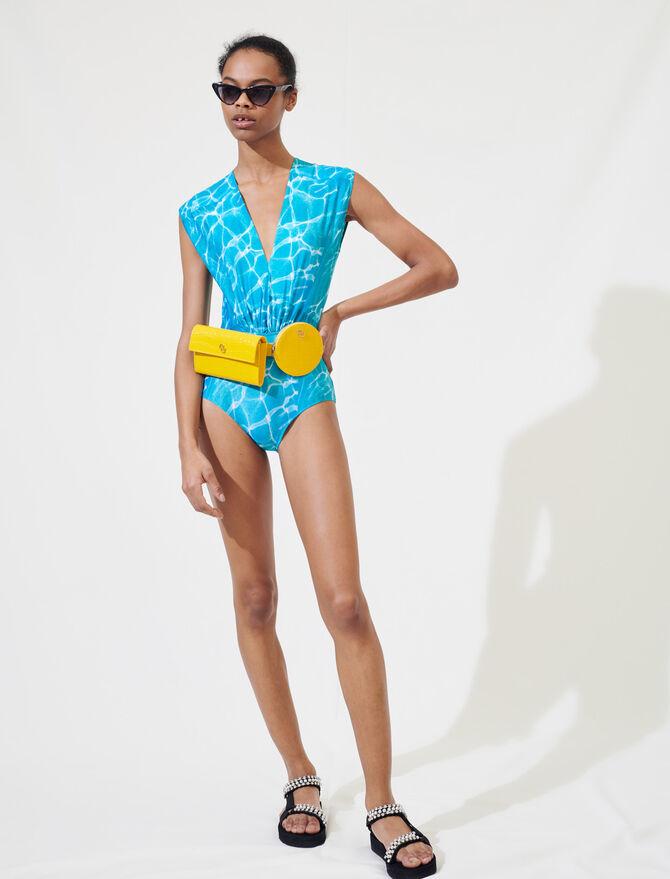 Badeanzug mit Pool-Print - Tops & Hemden - MAJE
