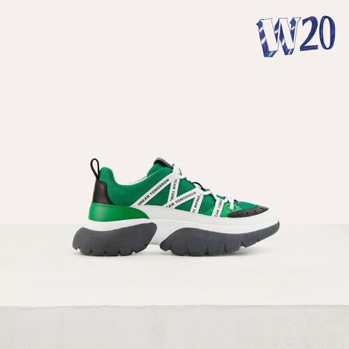 W20 Urban Sneakers aus Nylon : Urban farbe Grün