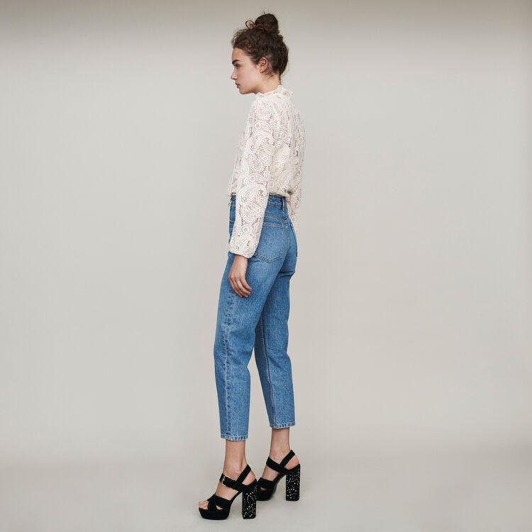 High-Waist Jeans : Hosen & Jeans farbe Blau