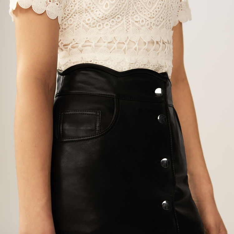 Leather skirt : Röcke & Shorts farbe Schwarz