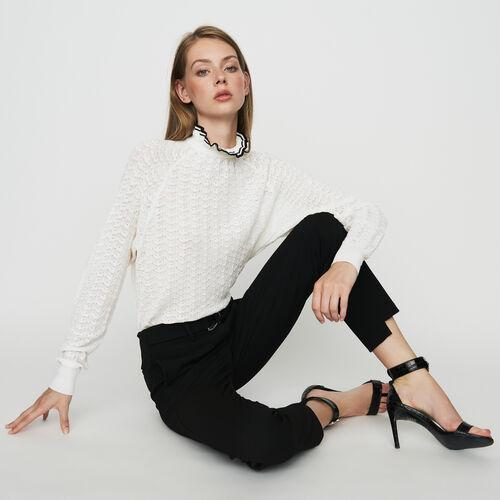 Gerade Krepp-Hose : Hosen & Jeans farbe Schwarz