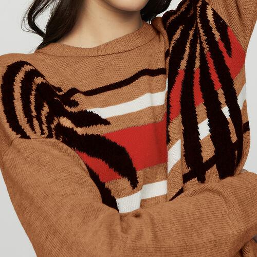 Pullover mit langen Ärmeln : Strickwaren farbe Camel