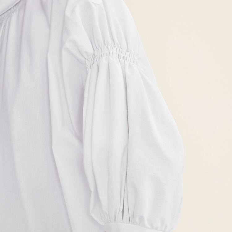 Top aus Baumwollpopeline : Tops farbe Weiss