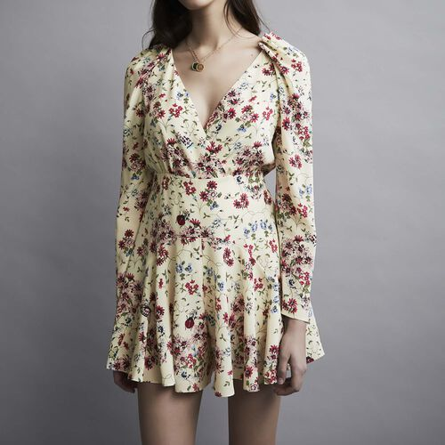 Silk printed playsuit : Röcke & Shorts farbe IMPRIME