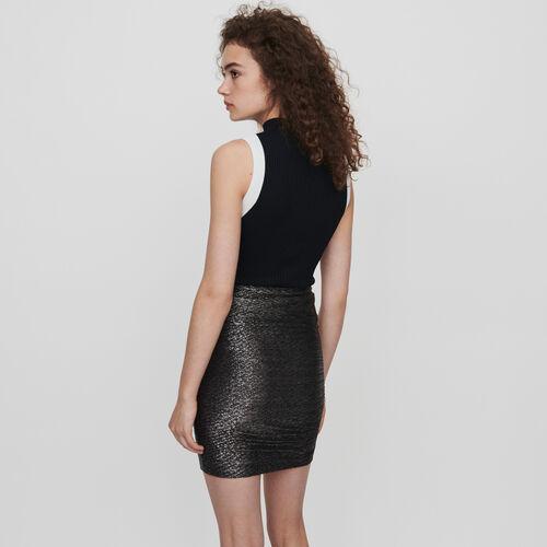 Falten Rock aus Lurex und mit Rüschen : Röcke & Shorts farbe Silber