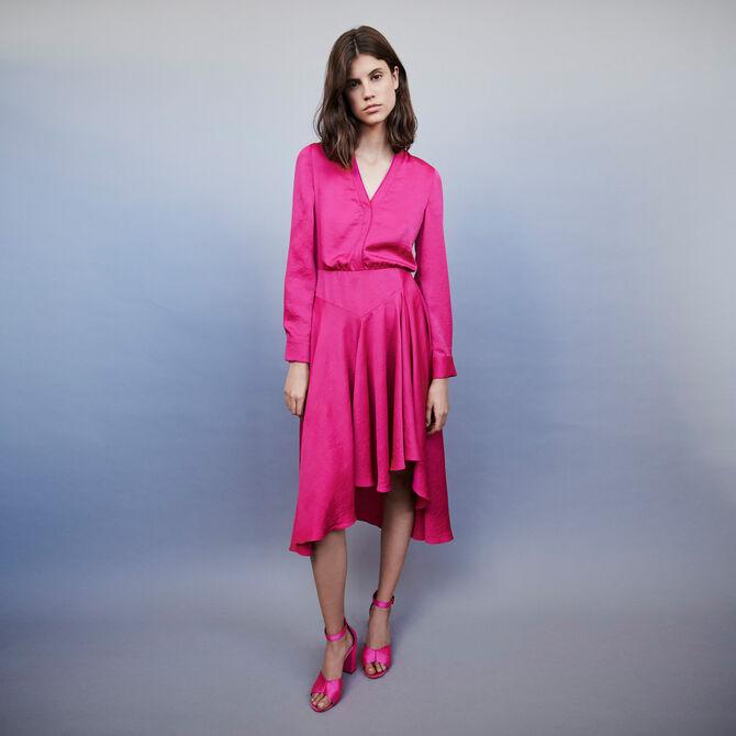 Asymmetrisches Satin Kleid - staff private sale 20 - MAJE