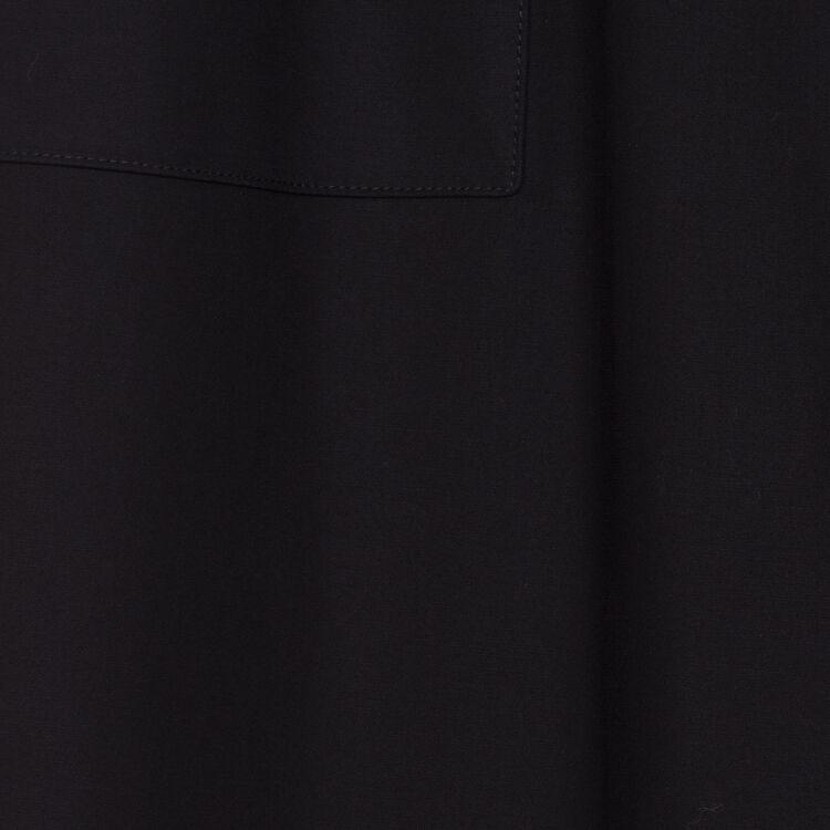 Weite Hose mit hohem Bund : Hosen farbe Schwarz