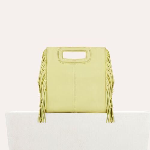 M Tasche aus Lammleder : null farbe Gelb