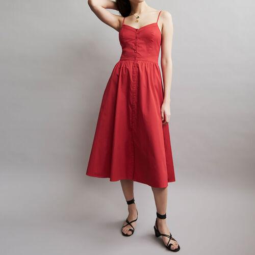 Midi kleid : Neuheiten farbe ROUGE