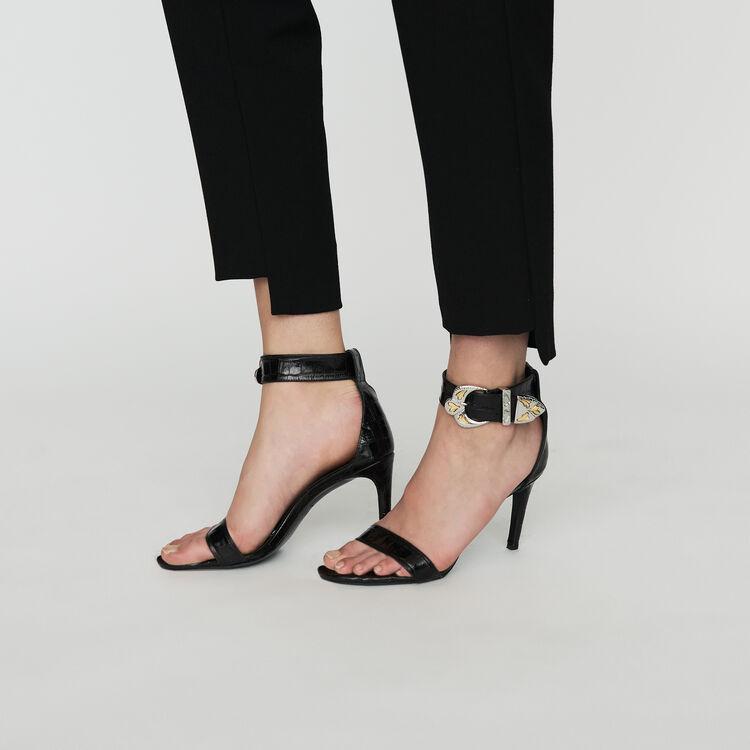 Gerade Krepp-Hose : Hosen farbe Schwarz